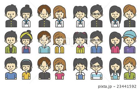 学生のセット【シンプルキャラ・シリーズ】 23441592