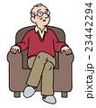 おじいちゃん ソファ シニアのイラスト 23442294