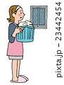 洗濯 雨 女性のイラスト 23442454