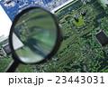 基盤 基板 ビジネス テクノロジー 研究 開発 虫眼鏡 虫メガネ 研究開発  23443031