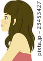 女性 横顔 20代のイラスト 23453427