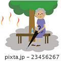 高齢者 シニア 真夏のイラスト 23456267