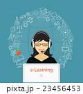 教育 勉強 女のイラスト 23456453