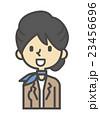 白バック ベクター 笑顔のイラスト 23456696