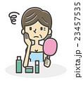 肌に悩む女性【シンプルキャラ・シリーズ】 23457535