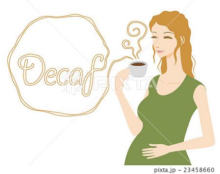 デカフェコーヒーを飲む妊婦 23458660