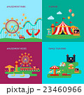 Amusement Park Concept Icons Set  23460966