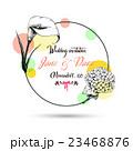 Vintage wedding invitation card with hand drawn 23468876