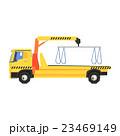 トラック つる クレーンのイラスト 23469149