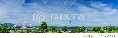 琵琶湖夏景色 パノラマ 23470933
