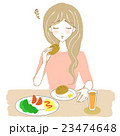 食欲不振の女性(パン) 23474648
