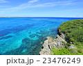 沖縄 宮古島と来間島を結ぶ来間大橋から見た海 23476249