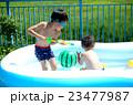 子供 水遊び 兄弟の写真 23477987