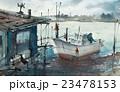 漁船 漁港 船のイラスト 23478153