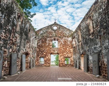 Inside the ruin of St Paul's Church 23480624