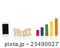 グラフ スマートフォン 積み木の写真 23490027