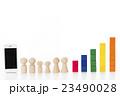 グラフ スマートフォン 積み木の写真 23490028