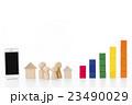 グラフ スマートフォン 積み木の写真 23490029