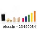 グラフ スマートフォン 積み木の写真 23490034