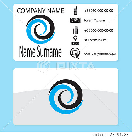 Business card with logo whirlpool brandingのイラスト素材 [23491283] - PIXTA