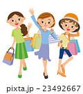 ショッピング 女性 買い物のイラスト 23492667