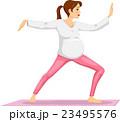 Girl Pregnant Tai Chi 23495576