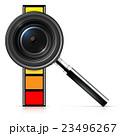 レンズ ルーペ 拡大鏡のイラスト 23496267