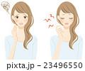 ニキビ 悲しむ女性 イラスト 23496550