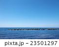 消波ブロック 日本海 利尻富士の写真 23501297