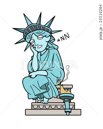 自由の女神 居眠りのイラスト素材 23510264 Pixta