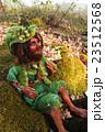 fairy doll handmade figure sitting on stone in 23512568
