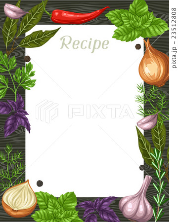 Frame design with various herbs and spices 23512808