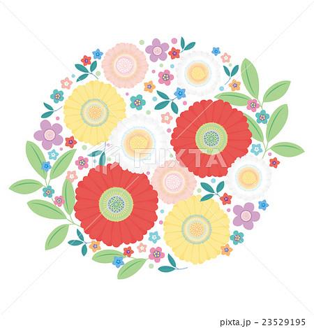 カット素材 可愛い花のイラスト素材 23529195 Pixta