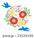 カット素材-可愛い花と鳥(テクスチャ) 23529199