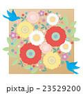 カット素材-可愛い花と鳥2 23529200