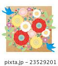 カット素材-可愛い花と鳥2(テクスチャ) 23529201