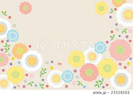 背景素材 可愛い花1テクスチャのイラスト素材 23529203 Pixta