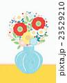 背景素材-可愛い花と花瓶(グレー,黄)(テクスチャ) 23529210