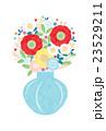 カット素材-可愛い花と花瓶(テクスチャ) 23529211