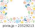 背景素材-可愛い花と鳥(テクスチャ) 23529213