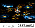 Abstract fractal fantasy field of flowers 23530058