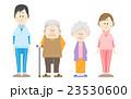 老人と介護士 23530600