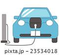 電気自動車 充電 自動車のイラスト 23534018