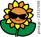 ひまわり夏の花キャラクター サングラス 23537096
