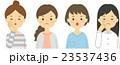 困っている女性たち セット 23537436