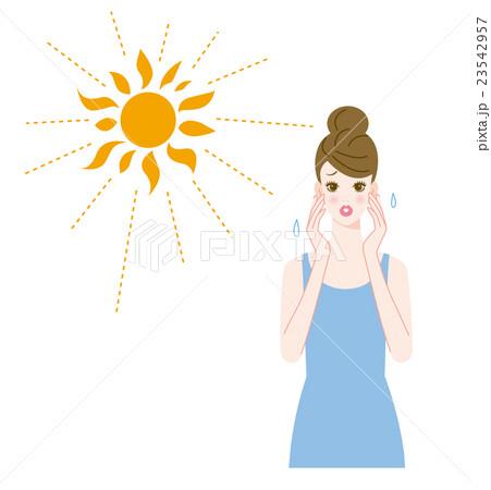 紫外線と女性 23542957