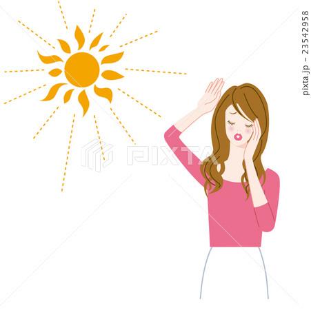 紫外線と女性 23542958