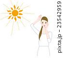 困る 心配 紫外線のイラスト 23542959