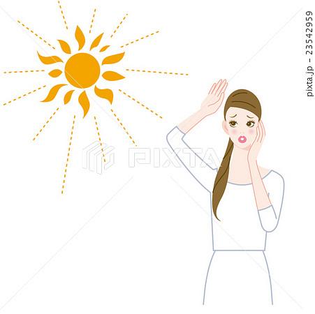 紫外線と女性 23542959