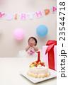 誕生日 バースデー (赤ちゃん ケーキ プレゼント ベビー パーティー 乳児 女の子 1歳 1才) 23544718